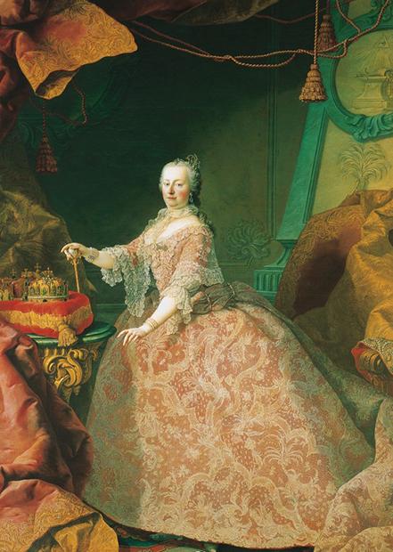 Портрет австрийской эрцгерцогини и королевы Богемии Марии Терезии кисти Мартина ван Майтенса