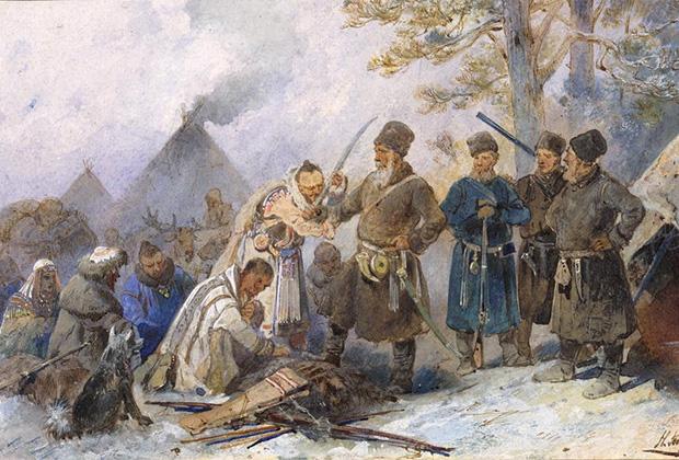 Николай Каразин «Подведение сибирских инородцев под высокую царскую руку», 1891 год