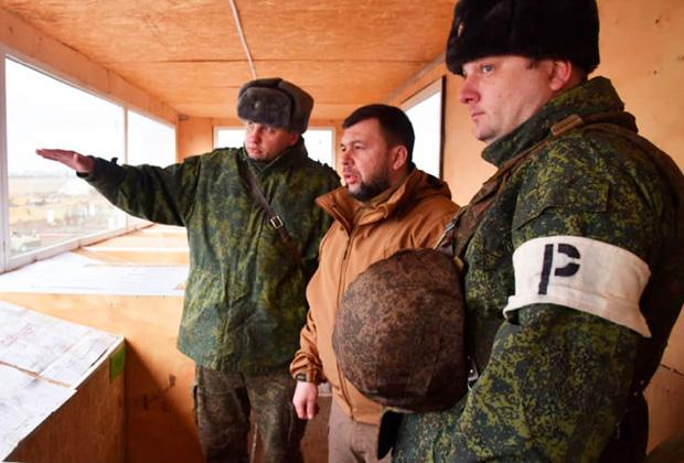 Пушилин на военном полигоне оценивает организацию занятий по боевой подготовке